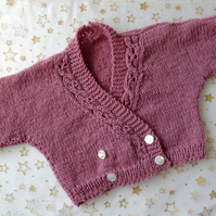 Dusky Pink Cardigan for a Baby Girl age approx 12-18 Months
