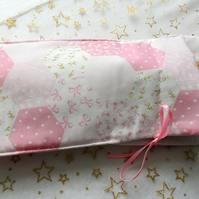"Sleeping bag in mock patchwork to fit Barbie or similar 12"" Doll"