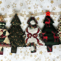 Rustic Christmas Bunting with Tree Motifs