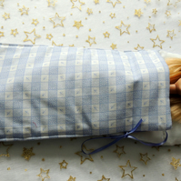 "Sleeping Bag in Blue and White to fit Barbie or similar 12"" Doll"