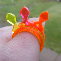 Half Price Sale Fish 1 - Laser Cut Fluorescent Acrylic Perspex Ring