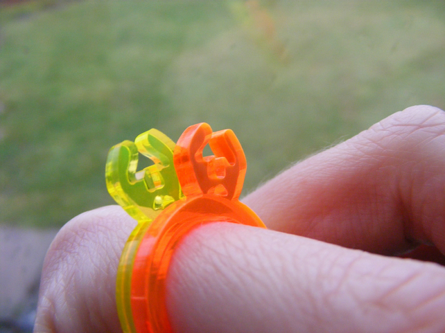 Half Price Sale! Splat Ring 2 - Laser Cut Fluorescent Perspex Acrylic
