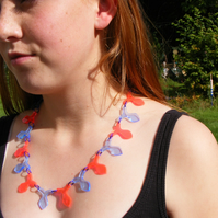 "Laser Cut Fluorescent ""Flat Fish"" Necklace"