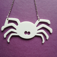 Laser Cut Halloween Spider Necklace