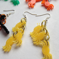 Laser Cut Halloween Big Spider Dangly earrings