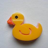 Rubber Duck Brooch - Laser Cut Perspex