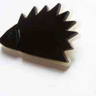 Hedgehog Brooch - Laser Cut perspex