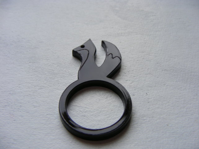 Brown Fox Laser-Cut Ring