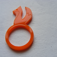Orange Fox Laser-Cut Ring