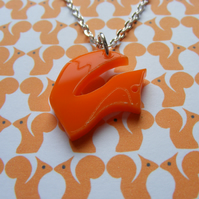 Tiny Fox Pendant - Orange Laser Cut