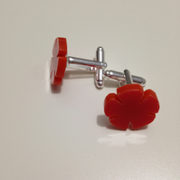 English Rose Cufflinks – Lancashire Red or Yorkshire White - Laser Cut Acrylic