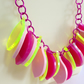 One-off colour way petal necklace - Pinks, Creams, Greens