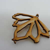Sycamore Brooch - Laser Cut Wood