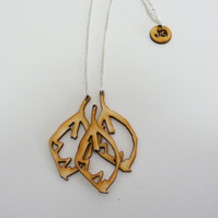 Beech Leaf Necklace - Laser Cut Wood