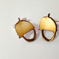 Acorn Cufflinks - Laser Cut Wood