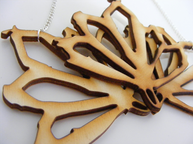 Sycamore Bib Necklace - Laser Cut Wood