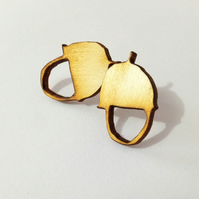 Acorn Wooden Earrings - Laser Cut wood