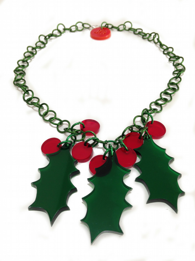 Christmas 2016 Holly Necklace