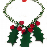 Christmas Holly Necklace
