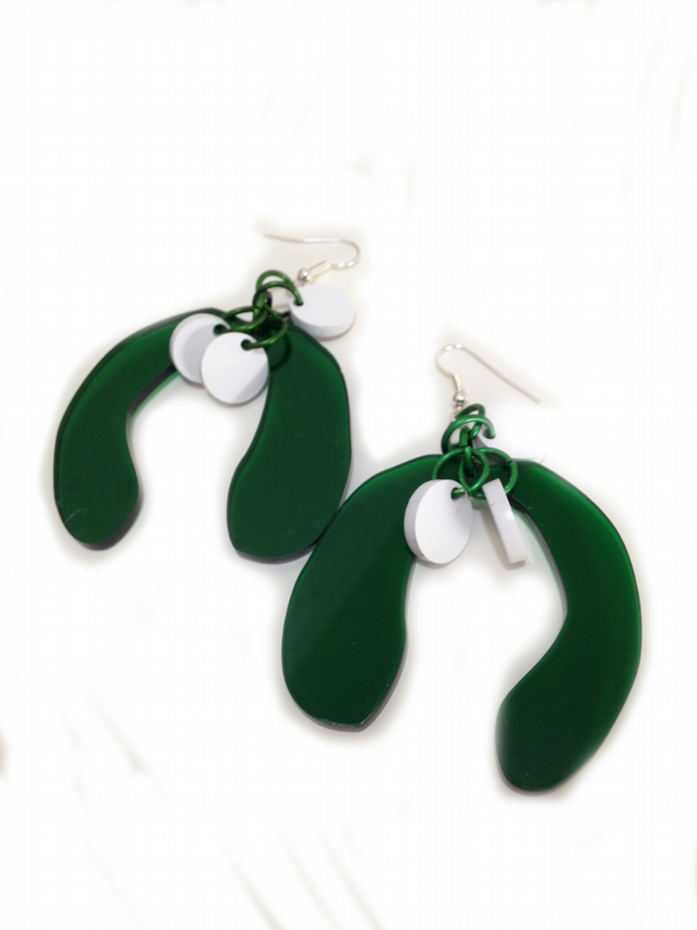 Christmas 2016 Mistletoe Earrings