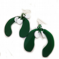 Christmas Mistletoe Earrings