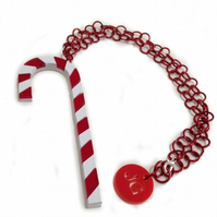 HALF PRICE SALE Christmas 2016 Candy Cane Necklace