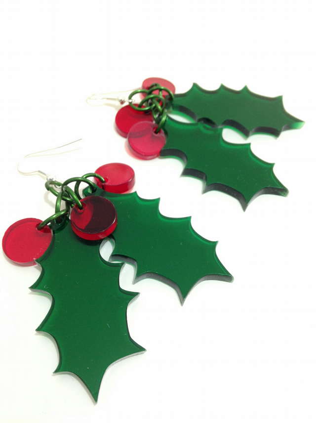 Christmas 2016 Holly Earrings