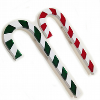 HALF PRICE SALE Christmas Candy Cane Brooch