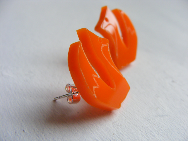 Fox Earrings Orange- Laser Cut Acrylic