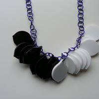 Cruella Colourway petal necklace - one-off laser-cut acrylic
