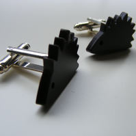 Hedgehog Cufflinks - Laser Cut Acrylic