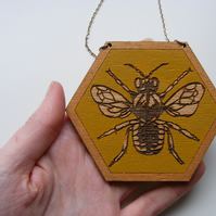 Hand-Painted Bee Necklace