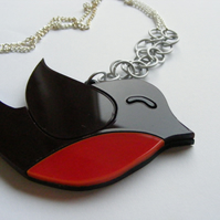Christmas Robin Pendant Necklace - Laser Cut Acrylic