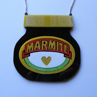 Marmite Jar inspired Statement Necklace, Laser Cut Acrylic