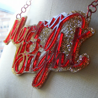 Merry & Bright Statement Christmas Necklace