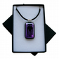 HANDMADE FUSED DICHROIC GLASS MINECRAFT INSPIRED 'ENDERMAN' PENDANT.