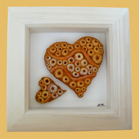 HANDMADE CERAMIC 'HEARTS' PICTURE.