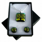 Handmade Dichroic Glass 'TREE' Pendant & Earrings.