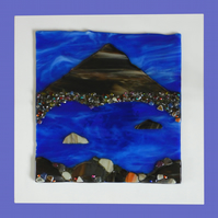 Handmade Fused Glass 'STOB DEARG, BEN ETIVE' Painting
