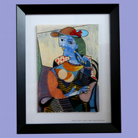 Handmade Fused Glass Picasso 'Marie-Therese Walter' Painting