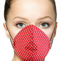 Handmade, machine stitched, double layered, 100% Cotton Protective Face Mask