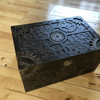 Faux Carved Wooden Box