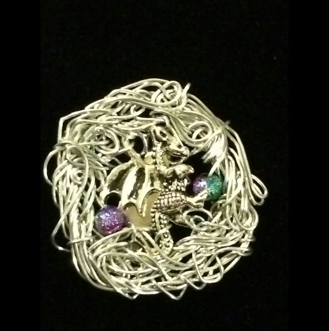 jn381 Welsh Dragon BROOCH, celtic pin, gift boxed, ladies girlfriend present