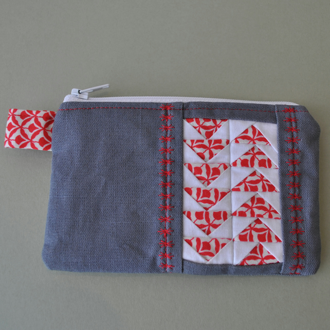 Grey & Red Geese Purse