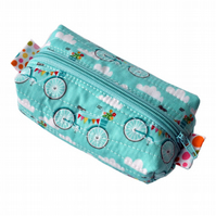 Bicycle Print Make-up Bag - Cosmetic Pouch, Secret Santa