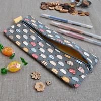 Novelty Pencil Case in Grey Hedgehogs - Back to School, Stocking Filler