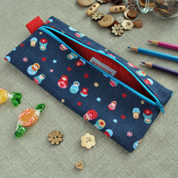 SALE - Large Novelty Pencil Case in Russian Dolls - Back to School, Party Gift