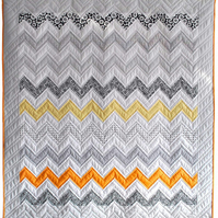 Monochrome Sunset Quilt Kit - Craft Kit, Quilt Project, Make Your Own