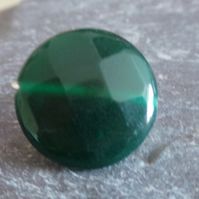 Green Agate Wire Ring Size P-Q