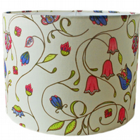 Linen lampshade in A&C floral fabric